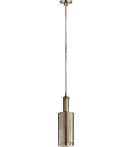 Visual Comfort TOB5099AN Thomas O'Brien Anders 1 Light 6 inch Antique Nickel Pendant Ceiling Light, Large Cylindrical photo