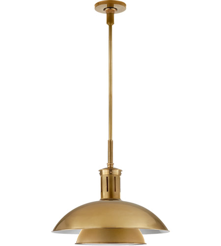 Visual Comfort TOB5112HAB-HAB Thomas O'Brien Whitman 1 Light 19 inch Hand-Rubbed Antique Brass Pendant Ceiling Light photo