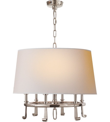 Visual Comfort TOB5135PN-NP Thomas O'Brien Calliope 6 Light 24 inch Polished Nickel Hanging Shade Ceiling Light  photo
