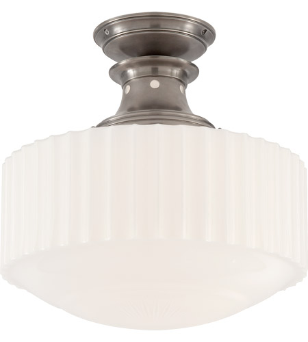 Visual Comfort TOB5150AN-WG Thomas O'Brien Milton Road 1 Light 14 inch Antique Nickel Convertible Flush Mount Ceiling Light photo