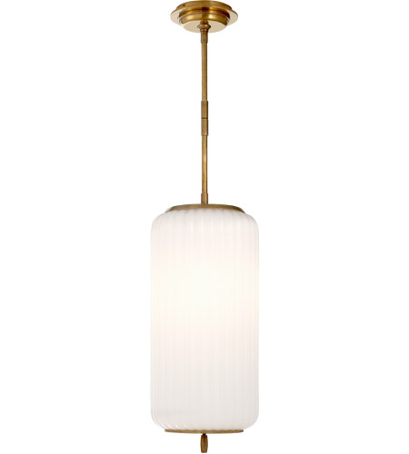 Visual Comfort TOB5160HAB-WG Thomas OBrien Eden 3 Light 9 inch Hand-Rubbed Antique Brass Pendant Ceiling Light photo