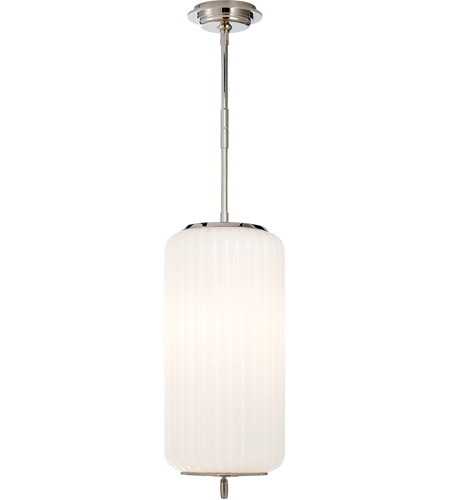 Visual comfort tob5160pn wg thomas obrien eden 3 light 9 inch polished nickel pendant ceiling