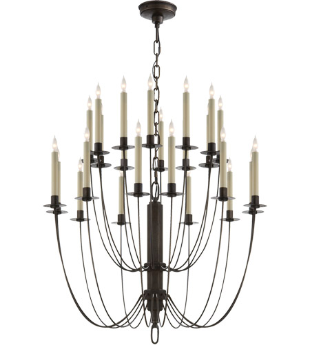 Visual Comfort TOB5205AI Thomas O'Brien Erika 24 Light 29 inch Aged Iron Chandelier Ceiling Light photo