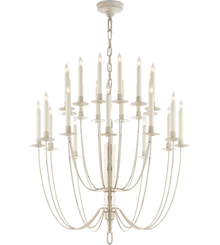 Visual Comfort TOB5205BW Thomas O'Brien Erika 24 Light 29 inch Belgian White Chandelier Ceiling Light photo