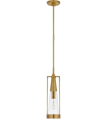 Thomas O'Brien Calix 1 Light 6 inch Hand-Rubbed Antique Brass Pendant  Ceiling Light, Small