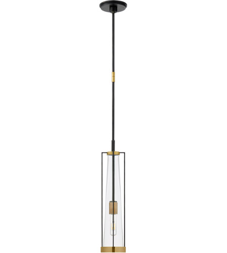 Thomas OBrien Calix 1 Light 6 inch Bronze and Brass Pendant Ceiling Light,  Tall