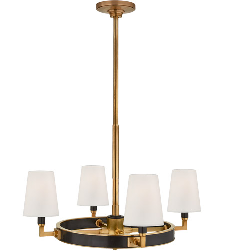 Visual Comfort TOB5280BZ/HAB-L Thomas O'Brien Watson 4 Light 28 inch Bronze and Hand-Rubbed Antique Brass Chandelier Ceiling Light, Small Ring photo