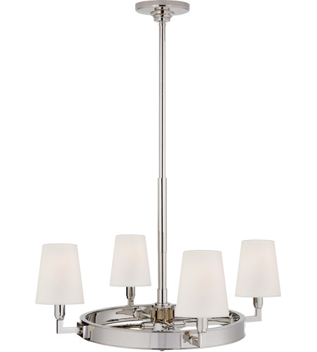 Visual Comfort TOB5280PN-L Thomas O'Brien Watson 4 Light 28 inch Polished Nickel Chandelier Ceiling Light, Small Ring photo