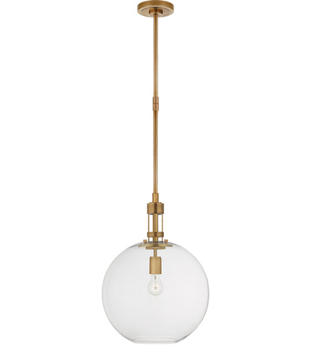 Thomas O Brien Gable 1 Light 16 Inch Hand Rubbed Antique Brass Pendant Ceiling Light Large