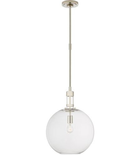Visual Comfort TOB5430PN-CG Thomas O'Brien Gable 1 Light 16 inch Polished Nickel Pendant Ceiling Light, Large photo