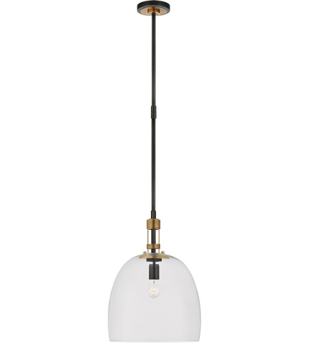 Visual Comfort TOB5432BZ/HAB-CG Thomas Obrien Gable 1 Light 16 inch Bronze with Antique Brass Pendant Ceiling Light in Bronze and Hand-Rubbed Antique Brass, Medium Bell photo thumbnail