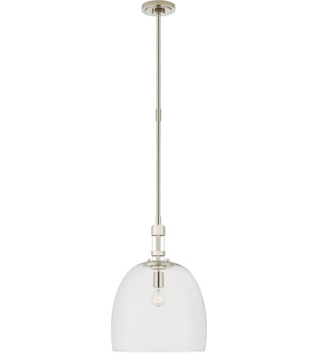 Visual Comfort TOB5432PN-CG Thomas O'Brien Gable 1 Light 16 inch Polished Nickel Pendant Ceiling Light, Medium Bell photo thumbnail