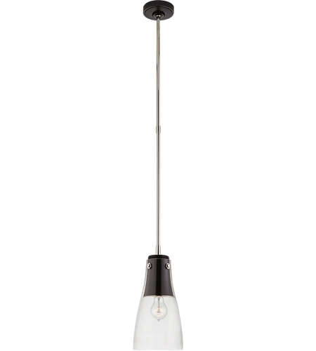 Visual Comfort TOB5742BLK/PN-CG Thomas O'Brien Altare 1 Light 7 inch Black and Polished Nickel Pendant Ceiling Light photo