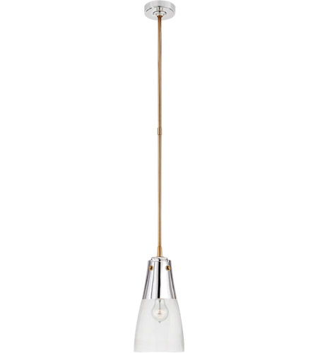 Visual Comfort TOB5742PN/HAB-CG Thomas O'Brien Altare 1 Light 7 inch Polished Nickel and Hand-Rubbed Antique Brass Pendant Ceiling Light photo
