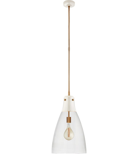Visual Comfort TOB5744AW/HAB-CG Thomas O'Brien Altare 1 Light 14 inch Antique White and Hand-Rubbed Antique Brass Pendant Ceiling Light photo