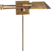 Visual Comfort Studio 1 Light Swing-Arm Wall Light in Hand-Rubbed Antique Brass 82034HAB