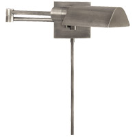 Visual Comfort Studio 1 Light Swing-Arm Wall Light in Antique Nickel 92025AN