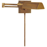 Studio 25 inch 60 watt Hand-Rubbed Antique Brass Swing-Arm Wall Light
