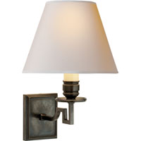 Visual Comfort Alexa Hampton Dean 1 Light Decorative Wall Light in Gun Metal with Wax AH2000GM-NP