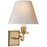 Visual Comfort AH2000NB-NP Alexa Hampton Dean 1 Light 8 inch Natural Brass Decorative Wall Light