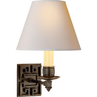 Visual Comfort AH2002GM-NP Alexa Hampton Abbot 1 Light 8 inch Gun Metal with Wax Decorative Wall Light