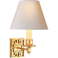 Visual Comfort Alexa Hampton Abbot 1 Light Decorative Wall Light in Natural Brass AH2002NB-NP
