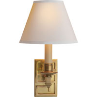 Visual Comfort Alexa Hampton Abbot 1 Light Decorative Wall Light in Natural Brass AH2003NB-NP