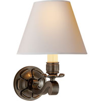 Visual Comfort Alexa Hampton Bing 1 Light Decorative Wall Light in Gun Metal with Wax AH2004GM-NP