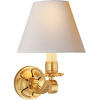 Visual Comfort Alexa Hampton Bing 1 Light Decorative Wall Light in Natural Brass AH2004NB-NP