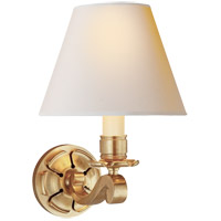 Alexa Hampton Bing 1 Light 8 inch Natural Brass Decorative Wall Light