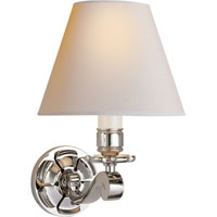 Visual Comfort Alexa Hampton Bing 1 Light Decorative Wall Light in Polished Nickel AH2004PN-NP