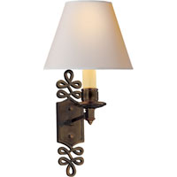 Visual Comfort Alexa Hampton Ginger 1 Light Decorative Wall Light in Gun Metal with Wax AH2010GM-NP