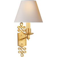 Visual Comfort Alexa Hampton Ginger 1 Light Decorative Wall Light in Natural Brass AH2010NB-NP