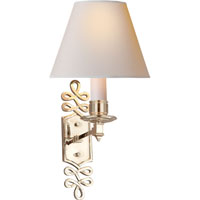 Visual Comfort Alexa Hampton Ginger 1 Light Decorative Wall Light in Polished Nickel AH2010PN-NP