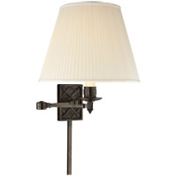 Visual Comfort AH2012GM-S Alexa Hampton Gene 20 inch 100 watt Gun Metal with Wax Swing-Arm Wall Light