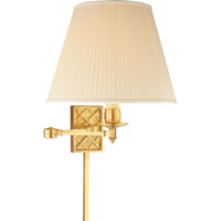 Visual Comfort Alexa Hampton Gene 1 Light Swing-Arm Wall Light in Natural Brass AH2012NB-S