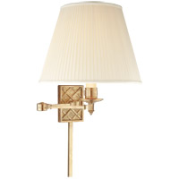 Alexa Hampton Gene 20 inch 100 watt Natural Brass Swing-Arm Wall Light