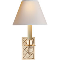 Visual Comfort Alexa Hampton Gene 1 Light Decorative Wall Light in Brushed Nickel AH2013BN-NP