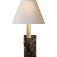 Visual Comfort Alexa Hampton Gene 1 Light Decorative Wall Light in Gun Metal with Wax AH2013GM-NP