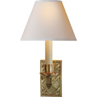 Visual Comfort Alexa Hampton Gene 1 Light Decorative Wall Light in Natural Brass AH2013NB-NP