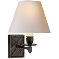 Alexa Hampton Gene 1 Light 8 inch Gun Metal Single-Arm Sconce Wall Light