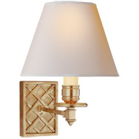 Alexa Hampton Gene 1 Light 8 inch Natural Brass Single-Arm Sconce Wall Light