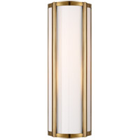 Visual Comfort AH2023NB-WG Alexa Hampton Basil 2 Light 6 inch Natural Brass Bath Wall Light