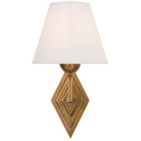 Alexa Hampton Bettina 1 Light 8 inch Natural Brass Sconce Wall Light, Alexa Hampton, Natural Percale Shade