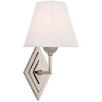Visual Comfort AH2050PN-PL Alexa Hampton Bettina 1 Light 8 inch Polished Nickel Sconce Wall Light, Alexa Hampton, Natural Percale Shade