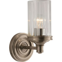 Visual Comfort Alexa Hampton Ava 1 Light Bath Wall Light in Antique Nickel AH2200AN-CG