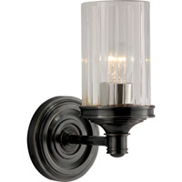 Visual Comfort Alexa Hampton Ava 1 Light Bath Wall Light in Bronze with Wax AH2200BZ-CG