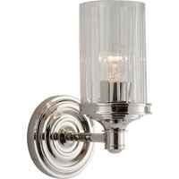 Visual Comfort Alexa Hampton Ava 1 Light Bath Wall Light in Polished Nickel AH2200PN-CG