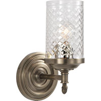 Visual Comfort Alexa Hampton Lita 1 Light Bath Wall Light in Antique Nickel AH2201AN-CG