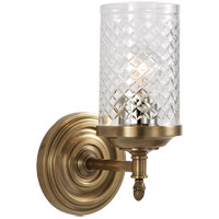 Visual Comfort AH2201HAB-CG Alexa Hampton Lita 1 Light 5 inch Hand-Rubbed Antique Brass Bath Wall Light